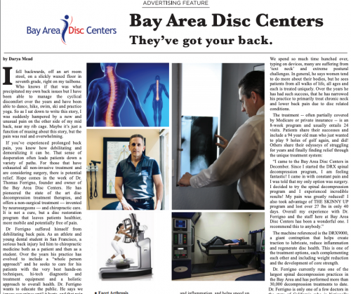 Bay Area Disk Centers: They Got Your Back